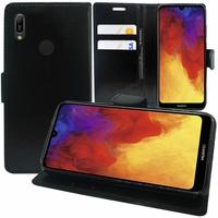"""Huawei Y6 Pro (2019) 6.09"""" MRD-LX2 (non compatible Huawei Y6 Pro (2017)): Accessoire Etui portefeuille Livre Housse Coque Pochette support vidéo cuir PU - NOIR"""