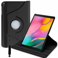 "Samsung Galaxy Tab A 10.1 (2019) 10.1"" SM-T510/ SM-T515 (non compatible Galaxy Tab A 10.1 (2016)): Accessoire Etui Housse Coque avec support Et Rotative Rotation 360° en cuir PU + mini Stylet - NOIR"
