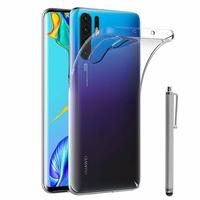 """Huawei P30 Pro 6.47"""" VOG-L29/ VOG-L09/ VOG-L04/ VOG-AL00/ VOG-TL00 (non compatible Huawei P30/ P30 Lite): Accessoire Housse Etui Coque gel UltraSlim et Ajustement parfait + Stylet - TRANSPARENT"""