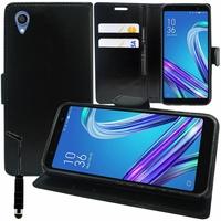 """Asus ZenFone Live (L1) ZA550KL 5.5""""/ ASUS_X00RD (non compatible Zenfone Live ZB501KL 5.0""""): Accessoire Etui portefeuille Livre Housse Coque Pochette support vidéo cuir PU + mini Stylet - NOIR"""