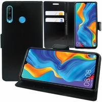 """Huawei Nova 4e 6.15"""" MAR-LX2/ MAR-AL00/ MAR-TL00 (non compatible Huawei Nova 4 6.4""""): Accessoire Etui portefeuille Livre Housse Coque Pochette support vidéo cuir PU - NOIR"""