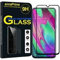 """Samsung Galaxy A40 5.9"""" SM-A405F/ SM-A405FN/ SM-A405F/DS/ SM-A405FN/DS [Les Dimensions EXACTES du telephone: 144.4 x 69.2 x 7.9 mm]: 1 Film de protection d'écran Verre Trempé"""
