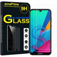 "Huawei Honor 8S 5.71"" KSE-LX9 (non compatible Honor 8 5.2"") [Les Dimensions EXACTES du telephone: 147.1 x 70.8 x 8.5 mm]: Lot / Pack de 2 Films de protection d'écran Verre Trempé"