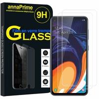 """Samsung Galaxy A60 (2019) 6.3"""" SM-A606F/ SM-A606F/DS/ SM-A6060 (non compatible Galaxy A6 (2018) 5.6""""): Lot / Pack de 2 Films de protection d'écran Verre Trempé"""