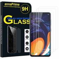 """Samsung Galaxy A60 (2019) 6.3"""" SM-A606F/ SM-A606F/DS/ SM-A6060 (non compatible Galaxy A6 (2018) 5.6""""): Lot / Pack de 3 Films de protection d'écran Verre Trempé"""