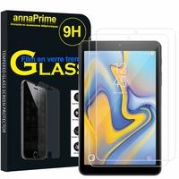 "Samsung Galaxy Tab A 8.0 (2018) 8.0"" SM-T387/ SM-T387W/ SM-T387V (non compatible Galaxy Tab A 8 (2019)): Lot / Pack de 2 Films de protection d'écran Verre Trempé"