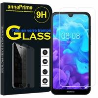 "Huawei Y5 (2019) 5.71"" AMN-LX1/ AMN-LX2/ AMN-LX3/ AMN-LX9 [Les Dimensions EXACTES du telephone: 147.1 x 70.8 x 8.5 mm]: 1 Film de protection d'écran Verre Trempé"