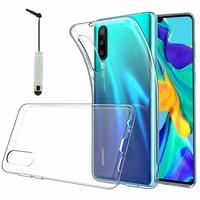 """Huawei P30 6.1"""" ELE-L29/ ELE-L09/ ELE-AL00/ ELE-TL00 (non compatible Huawei P30 Lite/ P30 Pro): Accessoire Housse Etui Coque gel UltraSlim et Ajustement parfait + mini Stylet - TRANSPARENT"""