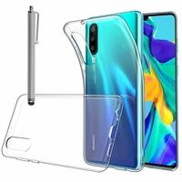 """Huawei P30 6.1"""" ELE-L29/ ELE-L09/ ELE-AL00/ ELE-TL00 (non compatible Huawei P30 Lite/ P30 Pro): Accessoire Housse Etui Coque gel UltraSlim et Ajustement parfait + Stylet - TRANSPARENT"""