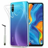 """Huawei P30 Lite 6.15"""" MAR-LX1M/ MAR-AL00/ MAR-TL00 (non compatible Huawei P30/ P30 Pro): Accessoire Housse Etui Coque gel UltraSlim et Ajustement parfait + mini Stylet - TRANSPARENT"""