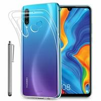 """Huawei P30 Lite 6.15"""" MAR-LX1M/ MAR-AL00/ MAR-TL00 (non compatible Huawei P30/ P30 Pro): Accessoire Housse Etui Coque gel UltraSlim et Ajustement parfait + Stylet - TRANSPARENT"""