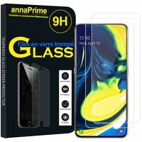 """Samsung Galaxy A80/ A90 6.7"""" SM-A805F/ A805X/ A805XC/ A805N/ A805F/DS/ A805F/DSM: Lot / Pack de 2 Films de protection d'écran Verre Trempé"""