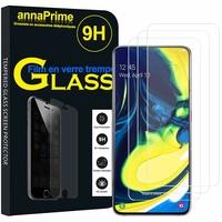 """Samsung Galaxy A80/ A90 6.7"""" SM-A805F/ A805X/ A805XC/ A805N/ A805F/DS/ A805F/DSM: Lot / Pack de 3 Films de protection d'écran Verre Trempé"""