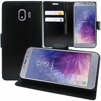 """Samsung Galaxy J4 (2018) 5.5"""" J400F/DS J400G/DS (non compatible Galaxy J4 Core 6.0""""/ Galaxy J4+/ J4 Plus 6.0""""): Accessoire Etui portefeuille Livre Housse Coque Pochette support vidéo cuir PU - NOIR"""