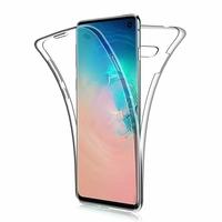 """Samsung Galaxy S10 6.1"""" (non compatible Galaxy S10 5G 6.7""""/ S10+ 6.4""""/ S10e 5.8""""): Coque Housse Silicone Gel TRANSPARENTE ultra mince 360° protection intégrale Avant et Arrière - TRANSPARENT"""