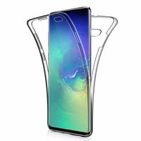 """Samsung Galaxy S10+/ S10 Plus 6.4"""" (non compatible Galaxy S10 5G 6.7""""/ S10 6.1""""/ S10e 5.8""""): Coque Housse Silicone Gel TRANSPARENTE ultra mince 360° protection intégrale Avant et Arrière - TRANSPARENT"""