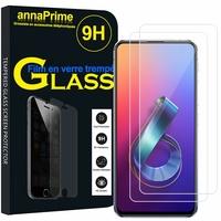 """Asus Zenfone 6 ZS630KL 6.4""""/ Zenfone 6z/ Zenfone 6 2019/ ASUS_I01WD: Lot / Pack de 2 Films de protection d'écran Verre Trempé"""