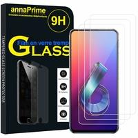 """Asus Zenfone 6 ZS630KL 6.4""""/ Zenfone 6z/ Zenfone 6 2019/ ASUS_I01WD: Lot / Pack de 3 Films de protection d'écran Verre Trempé"""