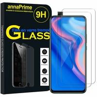"""Huawei P Smart Z (2019) 6.59"""" (non compatible Huawei P smart 2017 5.65""""/ P Smart Plus 2019 6.21""""/ P Smart (2019) 6.21""""): Lot / Pack de 2 Films de protection d'écran Verre Trempé"""