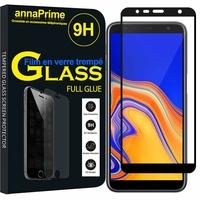 """Samsung Galaxy J4+/ J4 Plus (2018) 6.0"""" (non compatible Galaxy J4 5.5"""") [Les Dimensions EXACTES du telephone: 161.4 x 76.9 x 7.9 mm]: 1 Film PLEINE COLLE Verre Trempé 2,5D Ultra Clair 9H Dureté Protecteur d'écran FULL GLUE - Couleur - NOIR"""