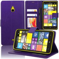 Nokia Lumia 1320: Accessoire Etui portefeuille Livre Housse Coque Pochette support vidéo cuir PU - VIOLET