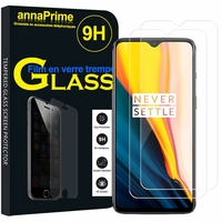 "OnePlus 7 6.41"" GM1901 (non compatible OnePlus 7 Pro 6.67"") [Les Dimensions EXACTES du telephone: 157.7 x 74.8 x 8.2 mm]: Lot / Pack de 2 Films de protection d'écran Verre Trempé"
