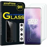 """OnePlus 7 Pro/ 7 Pro 5G 6.67"""" GM1911 GM1913 GM1917 GM1910 GM1915 (non compatible OnePlus 7 6.41""""): Lot / Pack de 3 Films de protection d'écran Verre Trempé"""