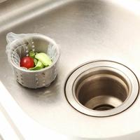 Lot de 100 Sacs de Filtre jetables pour évier de Cuisine et Salle de Bain - couleur BLANCHE
