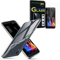 """Asus ZenFone Lite (L1) ZA551KL 5.45""""/ ASUS_X00RD: Etui Housse Pochette Accessoires Coque gel UltraSlim - TRANSPARENT + 3 Films de protection d'écran Verre Trempé"""