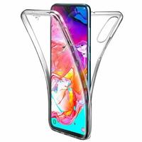 """Samsung Galaxy A70 6.7"""" SM-A705F/ SM-A7050/ SM-A705FN/ SM-A705F/DS [Les Dimensions EXACTES du telephone: 164.3 x 76.7 x 7.9 mm]: Coque Housse Silicone Gel TRANSPARENTE ultra mince 360° protection intégrale Avant et Arrière - TRANSPARENT"""