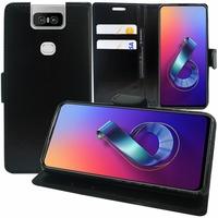 """Asus Zenfone 6 ZS630KL 6.4""""/ Zenfone 6z/ Zenfone 6 2019/ ASUS_I01WD: Accessoire Etui portefeuille Livre Housse Coque Pochette support vidéo cuir PU - NOIR"""