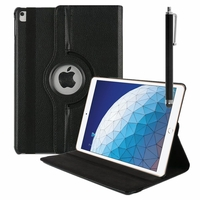 """Apple iPad Pro 10.5 (2017) 10.5"""" A1701 A1709 A1852 (non compatible iPad Pro 12.9 (2017)): Accessoire Etui Housse Coque avec support Et Rotative Rotation 360° en cuir PU + Stylet - NOIR"""