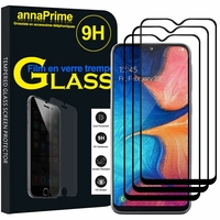 "Samsung Galaxy A20E/ A20e Dual SIM 5.8"" SM-A202F/ SM-A202F/DS (non compatible Galaxy A20 6.4""): Lot / Pack de 3 Films de protection d'écran Verre Trempé"