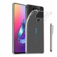 """Asus Zenfone 6 ZS630KL 6.4""""/ Zenfone 6z/ Zenfone 6 2019/ ASUS_I01WD: Accessoire Housse Etui Coque gel UltraSlim et Ajustement parfait + Stylet - TRANSPARENT"""