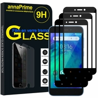 "Xiaomi Redmi Go 5.0"" [Les Dimensions EXACTES du telephone: 140.4 x 70.1 x 8.4 mm]: Lot / Pack de 3 Films de protection d'écran Verre Trempé"