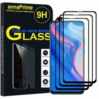 """Huawei Y9 Prime (2019) 6.59"""" STK-L21/ STK-L22/ STK-LX3 (non compatible Huawei Y9 (2018) 5.93""""/ Y9 (2019) 6.5"""") [Les Dimensions EXACTES du telephone: 163.5 x 77.3 x 8.8 mm]: Lot / Pack de 3 Films de protection d'écran Verre Trempé"""