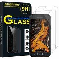 """Samsung Galaxy Xcover 4S SM-G398F SM-G398FN/DS 5.0"""" [Les Dimensions EXACTES du telephone: 146.2 x 73.3 x 9.7 mm]: Lot / Pack de 3 Films de protection d'écran Verre Trempé"""