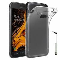 """Samsung Galaxy Xcover 4S SM-G398F SM-G398FN/DS 5.0"""" [Les Dimensions EXACTES du telephone: 146.2 x 73.3 x 9.7 mm]: Accessoire Housse Etui Coque gel UltraSlim et Ajustement parfait + mini Stylet - TRANSPARENT"""