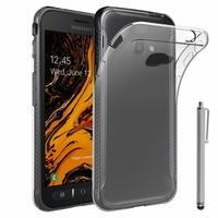"""Samsung Galaxy Xcover 4S SM-G398F SM-G398FN/DS 5.0"""" [Les Dimensions EXACTES du telephone: 146.2 x 73.3 x 9.7 mm]: Accessoire Housse Etui Coque gel UltraSlim et Ajustement parfait + Stylet - TRANSPARENT"""