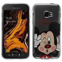 "Samsung Galaxy Xcover 4S SM-G398F SM-G398FN/DS 5.0"" [Les Dimensions EXACTES du telephone: 146.2 x 73.3 x 9.7 mm]: Coque Housse silicone TPU Transparente Ultra-Fine Dessin animé jolie - Mickey Mouse"