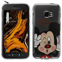 """Samsung Galaxy Xcover 4S SM-G398F SM-G398FN/DS 5.0"""" [Les Dimensions EXACTES du telephone: 146.2 x 73.3 x 9.7 mm]: Coque Housse silicone TPU Transparente Ultra-Fine Dessin animé jolie + mini Stylet - Mickey Mouse"""