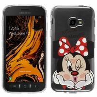"Samsung Galaxy Xcover 4S SM-G398F SM-G398FN/DS 5.0"" [Les Dimensions EXACTES du telephone: 146.2 x 73.3 x 9.7 mm]: Coque Housse silicone TPU Transparente Ultra-Fine Dessin animé jolie - Minnie Mouse"