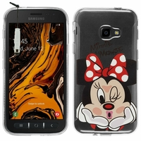 "Samsung Galaxy Xcover 4S SM-G398F SM-G398FN/DS 5.0"" [Les Dimensions EXACTES du telephone: 146.2 x 73.3 x 9.7 mm]: Coque Housse silicone TPU Transparente Ultra-Fine Dessin animé jolie + mini Stylet - Minnie Mouse"
