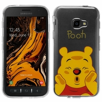"Samsung Galaxy Xcover 4S SM-G398F SM-G398FN/DS 5.0"" [Les Dimensions EXACTES du telephone: 146.2 x 73.3 x 9.7 mm]: Coque Housse silicone TPU Transparente Ultra-Fine Dessin animé jolie - Winnie the Pooh"