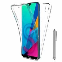 """Huawei Honor 8S 5.71"""" KSE-LX9 (non compatible Honor 8 5.2"""") [Les Dimensions EXACTES du telephone: 147.1 x 70.8 x 8.5 mm]: Coque Housse Silicone Gel TRANSPARENTE ultra mince 360° protection intégrale Avant et Arrière + Stylet - TRANSPARENT"""