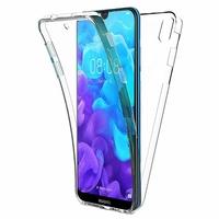 """Huawei Y5 (2019) 5.71"""" AMN-LX1/ AMN-LX2/ AMN-LX3/ AMN-LX9 [Les Dimensions EXACTES du telephone: 147.1 x 70.8 x 8.5 mm]: Coque Housse Silicone Gel TRANSPARENTE ultra mince 360° protection intégrale Avant et Arrière - TRANSPARENT"""