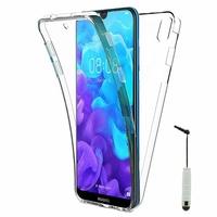 """Huawei Y5 (2019) 5.71"""" AMN-LX1/ AMN-LX2/ AMN-LX3/ AMN-LX9 [Les Dimensions EXACTES du telephone: 147.1 x 70.8 x 8.5 mm]: Coque Housse Silicone Gel TRANSPARENTE ultra mince 360° protection intégrale Avant et Arrière + mini Stylet - TRANSPARENT"""