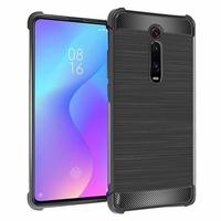 """Xiaomi Redmi K20/ Redmi K20 Pro/ Mi 9T/ Mi 9T Pro 6.39"""" M1903F10I/ M1903F10G/ M1903F11I (non compatible Xiaomi Mi 9 6.39""""/ Mi9 SE 5.97""""): Coque Housse Silicone Souple en Fibre de Carbone Brossé motif TPU Case - NOIR"""