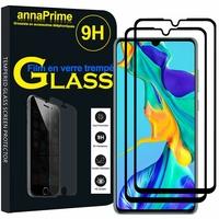 """Huawei P30 6.1"""" ELE-L29/ ELE-L09/ ELE-AL00/ ELE-TL00 (non compatible Huawei P30 Lite/ P30 Pro): Lot / Pack de 2 Films de protection d'écran Verre Trempé"""