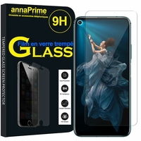 "Huawei Honor 20/ Huawei nova 5T 6.26"" YAL-L21 YAL-AL00 YAL-TL00 (non compatible Huawei Honor 20 Lite 6.21""/ Honor 20i 6.21""/ Honor View 20 6.4""): 1 Film de protection d'écran Verre Trempé"